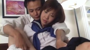 Horny teen Yui Saotome gives a steamy head before taking cum