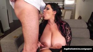 Cuba's Angelina Castro Gives a BlowJob & Has Threesome Sex!!
