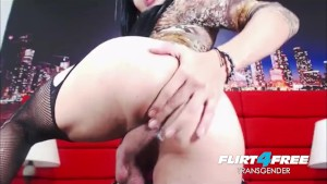 Sexy Tgirl Jerk and Ass Play