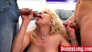 Donny Long and friend teach milf mom a lesson