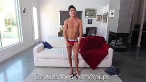 GayCastings Newcomer Marco Montgomery fucked and facial