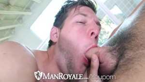 ManRoyale Hunter Page fucks John Foster tight ass