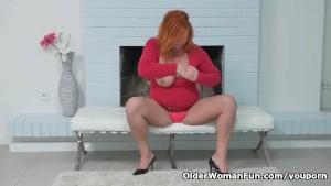 Euro milf Alex gets overwhelmed by her throbbing pussy