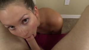 Amateur girl sucks YOUR cock then titjob til you cum on her face