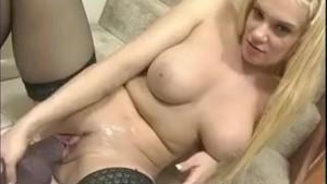 Big tits and very big dildo