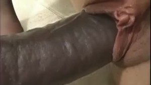 Big tits and very big dildo