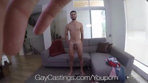 GayCastings Amateur Angel Duran fucked and facial by agent
