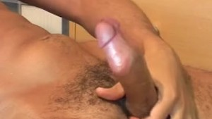 French arab guy gets wanked his huge cock in spite of him !