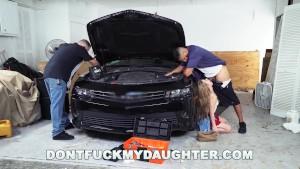 18yo Teen Lilly Ford Fucks Daddy's Mechanic Friend (dfmd15754)