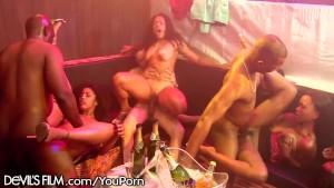 DevilsFilm All Ebony Swingers Orgy!