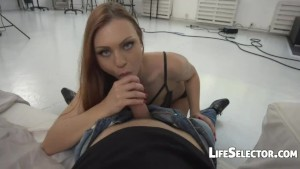Hot Red Head in Action - Ornella Morgan