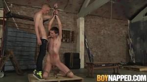 Ashton Bradley smokes while torturing skinny Damien Dwight