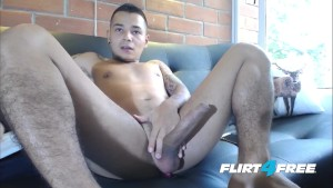 Tatted Latino Flirt4Free Hunk - Fedor C - Strokes His Big Beautiful Uncut Cock