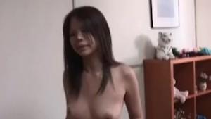 JAV amateur striptease and rooftop blowjob Subtitled