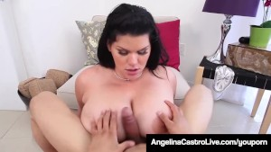 Curvy Cuban Angelina Castro Pays Her Trainer With A Hot BJ!