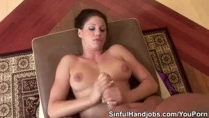 Kylie Handjobs End With Jizz On Her Bod