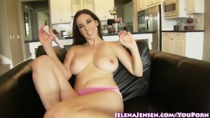 All Natural Busty Babe Jelena Jensen Shows Off Her Valentine's Day Panties!