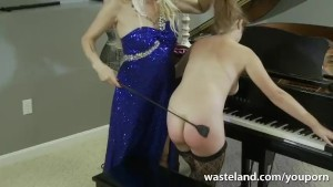 Kinky Piano Lessons With Femdom And Her Lesbian Sub