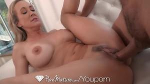 PureMature MILF Brandi Love fucked with dripping deep creampie