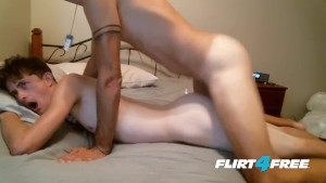 Flirt4Free Models Xavier Long and Andrew Deann - Hard Fucking Lovers Bareback and Cum Hard