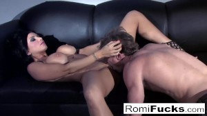 Sexy tease followed by hard sex with Romi Rain