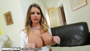Brooklyn Chase's 2 Fav Things: Tit Fucking & Sucking Dick