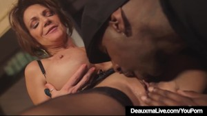 Hot mature cougar deauxma gets drilled by a big black cock