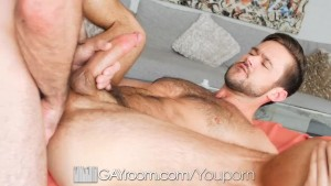 GayRoom Tight hairy ass massaged and penetrated