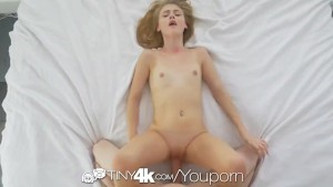 TINY4K Big dick POUNDING with oozing creampie