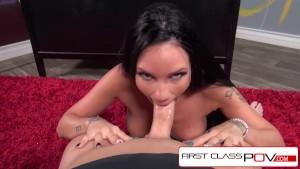 FirstClassPOV - Raven Bay Sucking principals monster Cock, big boobs and big booty