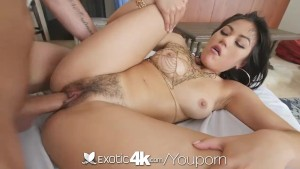 EXOTIC4K Fat Hairy Pussy POUNDED by big dick