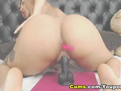 pretty college babe nails herself using her dildo