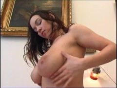 girl with big tits wakes up and plays for you
