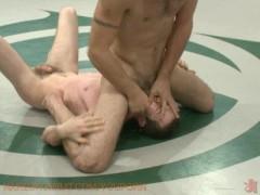 Gay wrestling - winner fucks loser