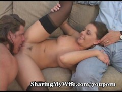 Hubby Shares His Cock Hungry Wife