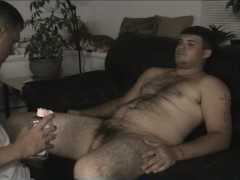Hunky guy cums back for a second time