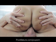PureMature Sexy Wife Thanks Hubby For New Boob Job