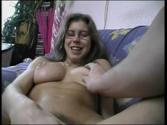 Nerdy girl palys and then gets fucked - Julia Reaves