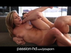 Passion-HD Natural tits girl takes it doggystyle hard