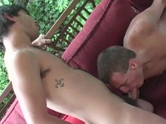 Twink face fucking his partner - Cum Pig Men