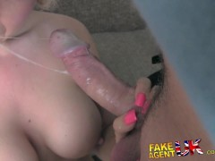 FakeAgentUK Hard ass Brit babe gets the royal treatment in porn casting