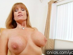 : Mature mom Darla Cranes huge tits and hungry pussy