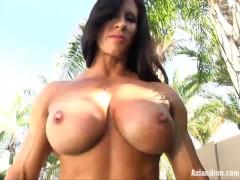 Aziani Iron Angela Salvagno in tiny bikini bulging