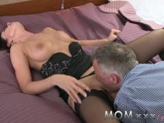MOM Horny Brunette loves getting dirty