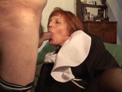 Old man fucks the hell out of a nun - Telsev