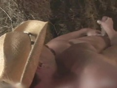 Muscular Cowboy shows his Hot Body