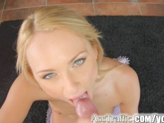 Ass Traffic anal orgasm and swallow for blonde