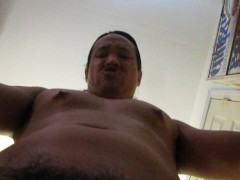 he swings his big cock and fat balls around