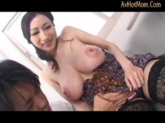 Japanese milf with natural big tits