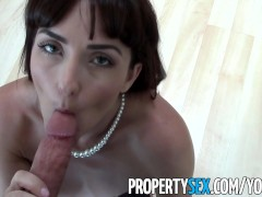 PropertySex - MILF realtor fucks client pretending to buy house in homemade sex video